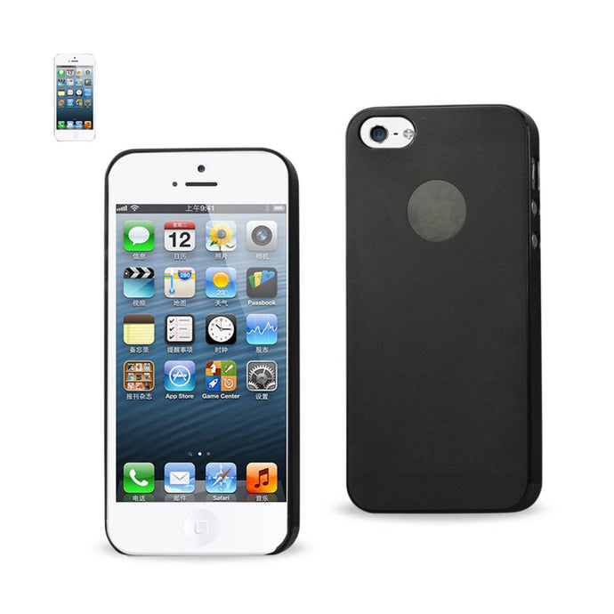 Reiko Iphone Se- 5s- 5 Semi Clear Candy Case In Black