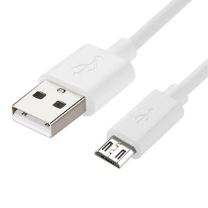 Reiko 30pcs Tangle Free Android Phones Micro Usb 2.0 Data Cable 3.3 Feet In White