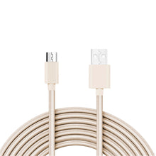 Load image into Gallery viewer, Reiko 3.3ft Metal Connector & Nylon Braided Micro Usb 2.0 Data Cable In Gold