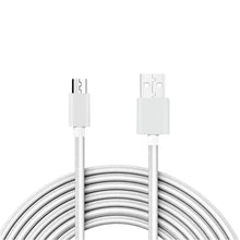 Load image into Gallery viewer, Reiko 3.3ft Metal Connector & Nylon Braided Micro Usb 2.0 Data Cable In Silver