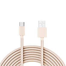 Load image into Gallery viewer, Reiko 3.3ft Metal Connector & Nylon Braided Type C Usb 2.0 Data Cable In Gold