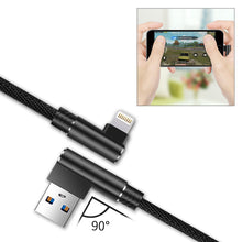 Load image into Gallery viewer, 3.3ft Nylon Braided Material 8 Pin Usb 2.0 Data Cable In Black