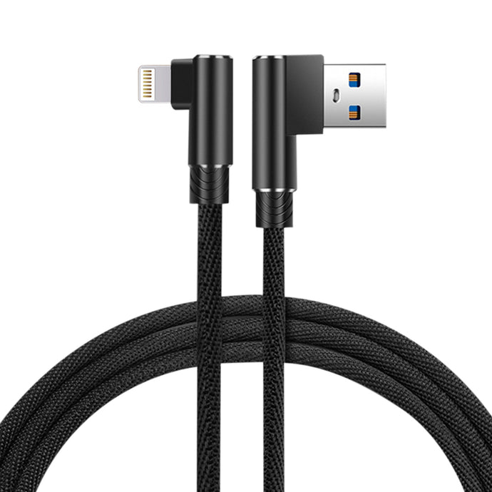 3.3ft Nylon Braided Material 8 Pin Usb 2.0 Data Cable In Black