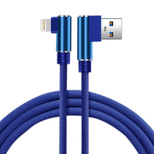 Load image into Gallery viewer, 3.3ft Nylon Braided Material 8 Pin Usb 2.0 Data Cable In Blue