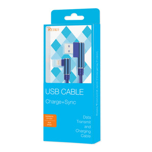 3.3ft Nylon Braided Material 8 Pin Usb 2.0 Data Cable In Blue