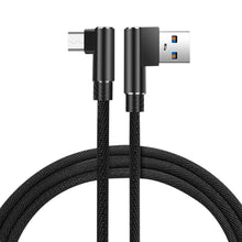 Load image into Gallery viewer, 3.3ft Nylon Braided Material Mircro Usb 2.0 Data Cable In Black