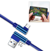 Load image into Gallery viewer, 3.3ft Nylon Braided Material Mircro Usb 2.0 Data Cable In Blue