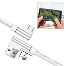 Load image into Gallery viewer, 3.3ft Nylon Braided Material Mircro Usb 2.0 Data Cable In White