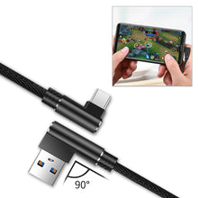 Load image into Gallery viewer, 3.3ft Nylon Braided Material Type C Usb 2.0 Data Cable In Black