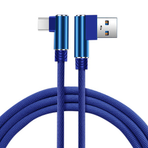 3.3ft Nylon Braided Material Type C Usb 2.0 Data Cable In Blue
