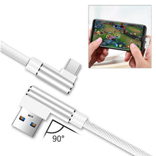 Load image into Gallery viewer, 3.3ft Nylon Braided Material Type C Usb 2.0 Data Cable In White