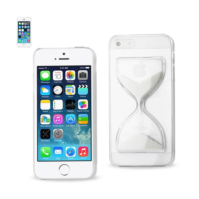 Reiko Iphone Se- 5s- 5 3d Sand Clock Clear Case In White
