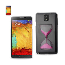 Load image into Gallery viewer, Reiko Samsung Galaxy Note 3 3d Sand Clock Clear Case In Hot Pink
