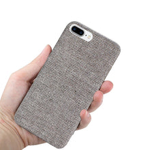 Load image into Gallery viewer, Reiko Iphone 8 Plus Herringbone Fabric In Dark Gray