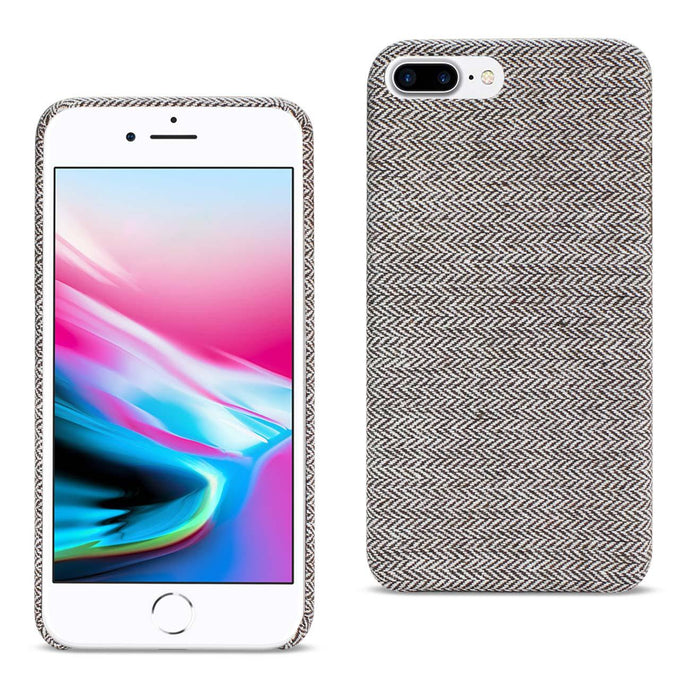 Reiko Iphone 8 Plus Herringbone Fabric In Dark Gray