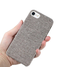 Load image into Gallery viewer, Reiko Iphone 8 Herringbone Fabric In Dark Gray