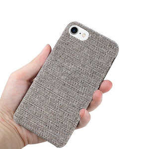 Reiko Iphone 8 Herringbone Fabric In Dark Gray