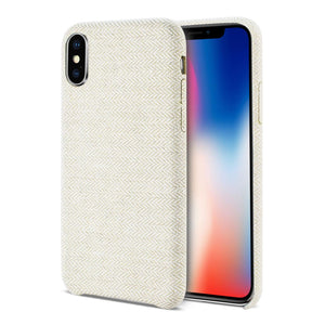 Reiko Iphone X Herringbone Fabric In Beige