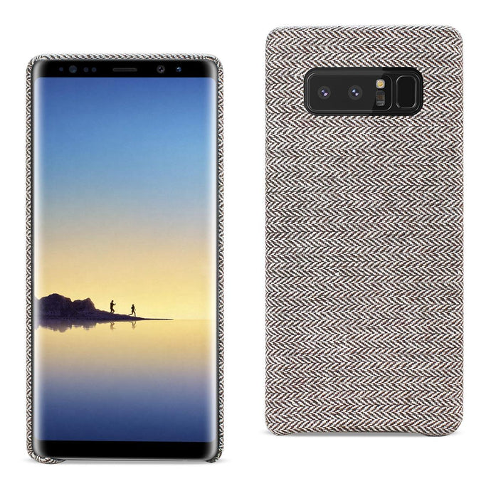 Reiko Samsung Galaxy Note 8 Herringbone Fabric In Dark Gray