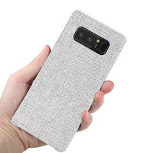 Load image into Gallery viewer, Reiko Samsung Galaxy Note 8 Herringbone Fabric In Light Gray