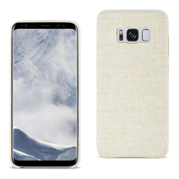 Reiko Samsung Galaxy S8 Herringbone Fabric In Beige