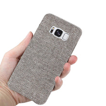 Load image into Gallery viewer, Reiko Samsung Galaxy S8 Herringbone Fabric In Dark Gray