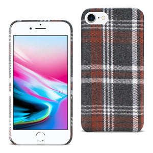 Reiko Iphone 8 Checked Fabric In Brown