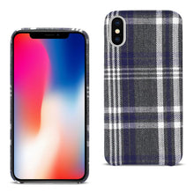 Load image into Gallery viewer, Reiko Iphone X Checked Fabric In Black