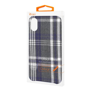 Reiko Iphone X Checked Fabric In Black