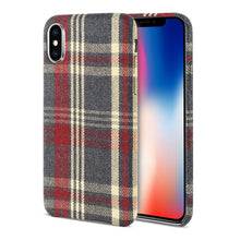 Load image into Gallery viewer, Reiko Iphone X Checked Fabric In Red