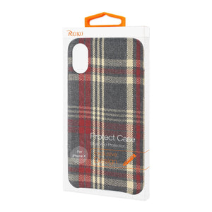 Reiko Iphone X Checked Fabric In Red
