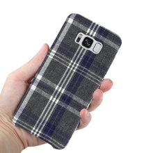 Load image into Gallery viewer, Reiko Samsung Galaxy S8 Edge Checked Fabric In Black