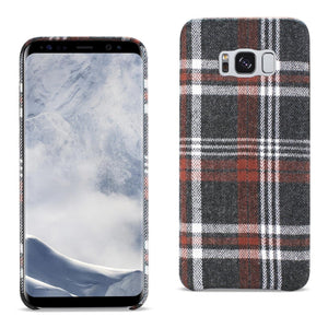 Reiko Samsung Galaxy S8 Edge Checked Fabric In Brown