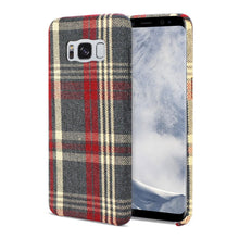 Load image into Gallery viewer, Reiko Samsung Galaxy S8 Edge Checked Fabric In Red