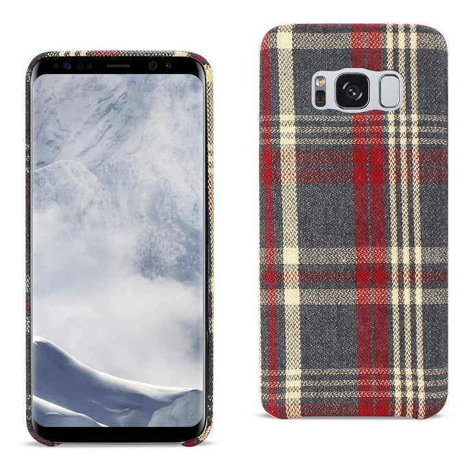Reiko Samsung Galaxy S8 Edge Checked Fabric In Red