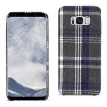 Load image into Gallery viewer, Reiko Samsung Galaxy S8 Checked Fabric In Black