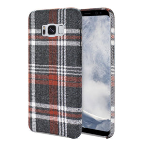 Reiko Samsung Galaxy S8 Checked Fabric In Brown
