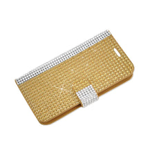 Load image into Gallery viewer, Reiko Zte Overture 2 Jewelry Diamond Rhinestone Wallet Case In Gold