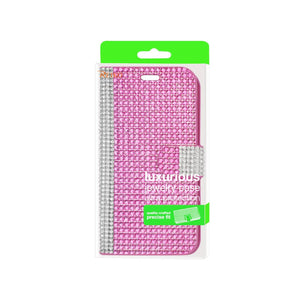 Reiko Zte Overture 2 Jewelry Diamond Rhinestone Wallet Case In Pink