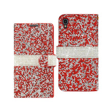 Load image into Gallery viewer, Reiko Alcatel One Touch Idol 3 5.5 Jewelry Rhinestone Wallet Case In Red