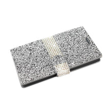 Load image into Gallery viewer, Reiko Alcatel One Touch Idol 3 5.5 Jewelry Rhinestone Wallet Case In Silver