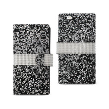 Load image into Gallery viewer, Reiko Iphone 6 Plus Diamond Rhinestone Wallet Case In Black
