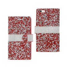 Load image into Gallery viewer, Reiko Iphone 6 Plus Diamond Rhinestone Wallet Case In Red