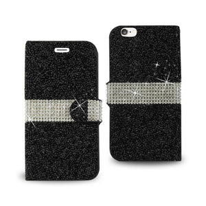 Reiko Iphone 6 Diamond Rhinestone Wallet Case In Black