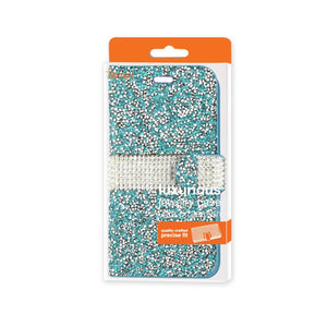 Reiko Iphone 6 Diamond Rhinestone Wallet Case In Blue