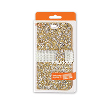 Load image into Gallery viewer, Reiko Iphone 6 Diamond Rhinestone Wallet Case In Gold