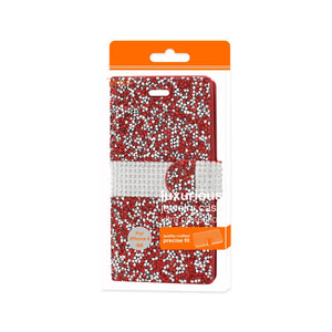 Reiko Iphone 6 Diamond Rhinestone Wallet Case In Red