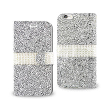 Load image into Gallery viewer, Reiko Iphone 6 Diamond Rhinestone Wallet Case In Silver