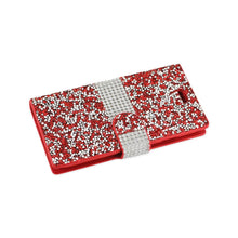 Load image into Gallery viewer, Reiko Iphone 7 Jewelry Rhinestone Wallet Case In Red