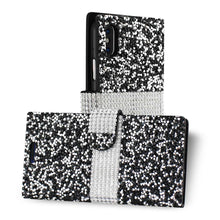Load image into Gallery viewer, Reiko Iphone X Diamond Rhinestone Wallet Case In Black